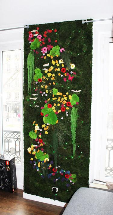 Mur végétal pour un appartement