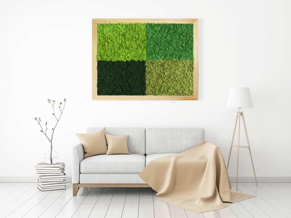 Tableau végétal lichen Multi