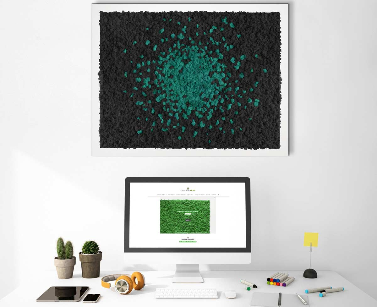 tableau v g tal design cosmos mousse pr serv e original moss. Black Bedroom Furniture Sets. Home Design Ideas