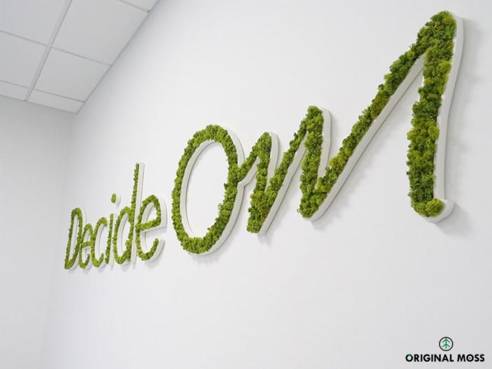 Logo végétal posé dans des bureaux