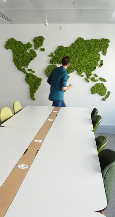 map monde végétale