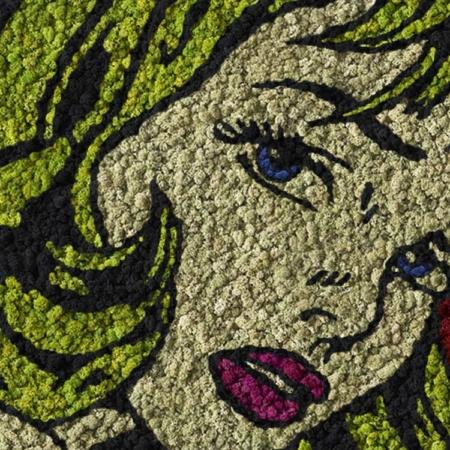 Pop Art végétal en lichen scandinave naturel & stabilisé