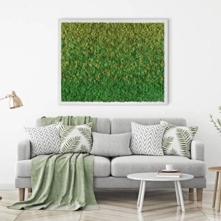 Tableau végétal design Dégradé n°2 - lichen naturel & stabilisé