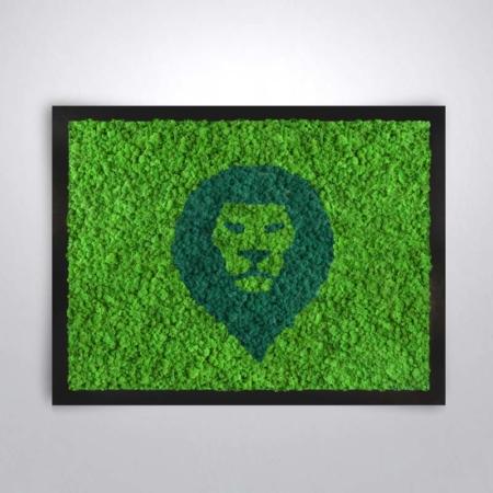 """Tableau végétal <br><span class=""""titre-produit-span-autres"""">design Lion</span>"""