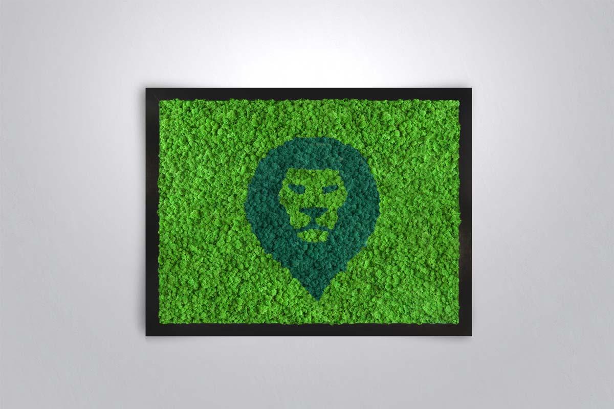tableau v g tal stabilis design lion original moss. Black Bedroom Furniture Sets. Home Design Ideas