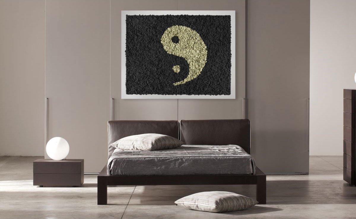 tableau v g tal design ying yang mousse pr serv e original moss. Black Bedroom Furniture Sets. Home Design Ideas